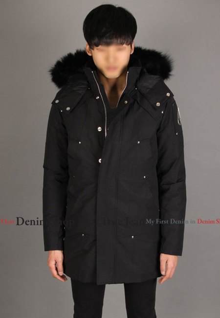 [세일] [MOOSE KNUCKLES]  [19 F/W] 무스너클 스틸링 파카 블랙 (블랙 퍼) [MK4661MP / Stirling Parka Black Black Fur]